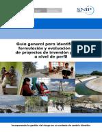 GUÍA GENERAL DE FORMULACIÓN Y EVALUACIÓN DE PROYECTOS DE INVERSIÓN PUBLICA