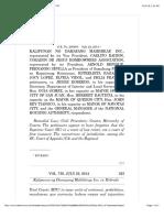 Kalipunan v. Robredo 730 SCRA 332 (2014)