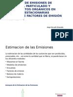 Cálculo de Emisiones de Material Particulado y Compuestos