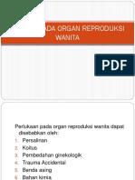 Trauma Pada Organ Reproduksi Wanita