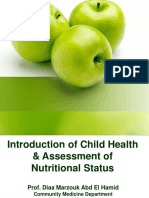 Introd to Child H-Ass of Nutr Status