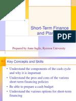 Chapter 18 - Short Term Finance Planning