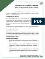BPM-PLANTA DE CONSERVA DE ANCHOVETA EN SALSA DE TOMATE