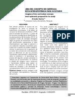 Sintagma del concepto de currículo - una propuesta interepistémica para su estudio
