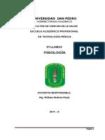 Silabo Fisiologia 2019-II
