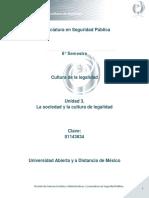 Unidad 3. La Sociedad y La Cultura de Legalidad