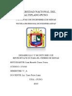 Desarrollo y Monitoreo de Revegetacion Para El Cierre de Minas