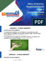 Meio Ambiente, Responsabilidade Social e Sustentabilidade - Slides I