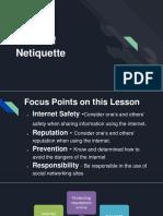 Rules in using net