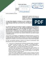Carta Notarial a la Municipalidad de la Victoria