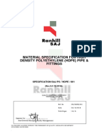 Ranhill Material Specification HDPE