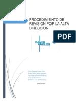 Procedimiento de La Revision Por La Alta Direccion