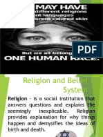 Religion and Belief System