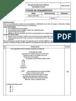 prueba diagnostica-3°grado-2018