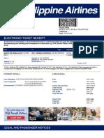 Electronic Ticket Receipt