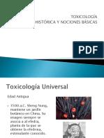 Bolilla 1 -Toxicologia-nociones Basicas