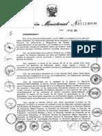Directiva Año Escolar 2014