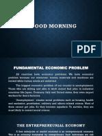 Entrepreneurial Economic Report