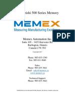 Mitsubishi 500 Memory Installation Manual