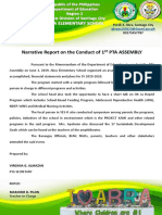Narrative Report on Firs Pta Assembly June