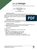 Plano de Estudos - Fisiologia Vegetal - IBN361