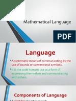 Mathematical Language