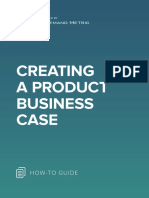 ANA Creating a Product Business Case