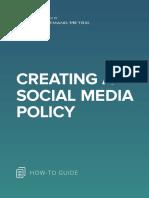 ANA Creating a Social Media Policy