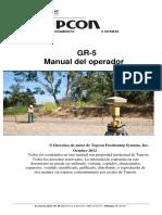 Manual de Operador de GR-5. Topcon