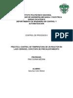 Práctica Control de Temperatura de Un Reactor en Lazo Cerrado, Con Etapa de Precalentamiento