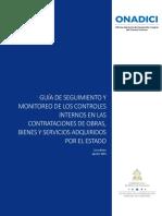 Guía de Seguimiento de Los Controles Internos en Las Compras y Contrataciones