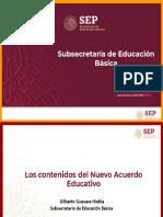 Contenidos Del Nuevo Acuerdo Educativo
