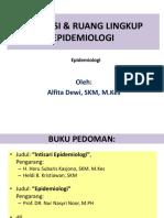 Dasar - Dasar Epidemiologi (Alfita Dewi)