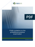 Public Guideline on the Professional Practice Examination