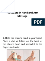 Procedure in Hand and Arm Massage