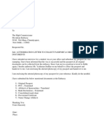 Passport Authorization Letter After Interview---sample