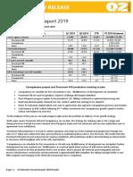 190723 OZL ASX Release Q2 2019 Report