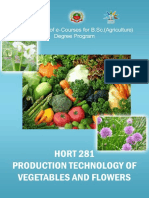 Production Technology of Vegetables
