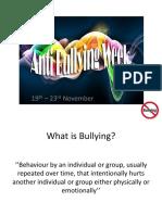 Anti Bullying Presentation