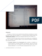 Factorización de Binomios.