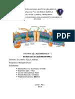 Permeabilidad de Membrana- Informe de Laboratorio