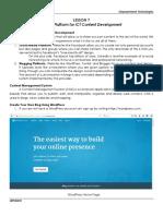 ET Lesson 7 - Online Platform for ICT Content Development