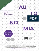 11 Bienal de Artes Mediales Programa de Actividades