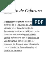 Distrito de Cajaruro Generalidaded