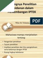 Pentingnya Penelitian Kebidanan Dalam Perkembangan IPTEK