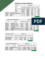 Análisis de Costos Básicos 2