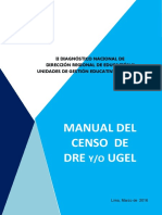 Manual Censo DRE - UGEL