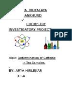 Chemistry Investigatory project Class 12 by Arya Hirlekar