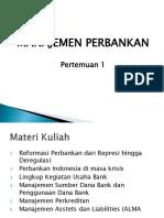 Manajemen Perbankan P1 Deregulasi Perbankan