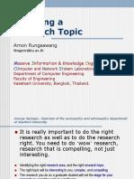 Choosing Research Topic